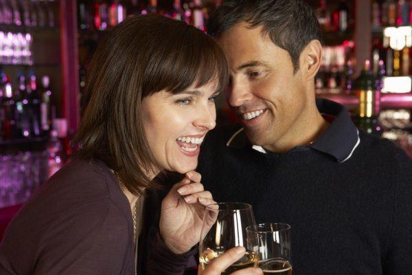 Singles Flirting At Bar Age 40 - 59